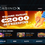 Deposit $10, play with $60 at Casino X